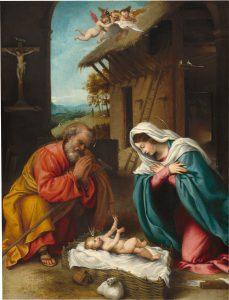 Lorenzo Lotto Narodzenie Jezusa 1523
